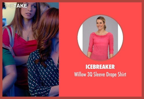 Icebreaker pink shirt from Pitch Perfect 2 seen with No Actor (Stacie)