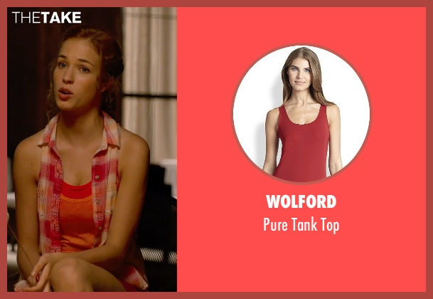 Wolford red top from Pitch Perfect 2 seen with No Actor (Stacie)