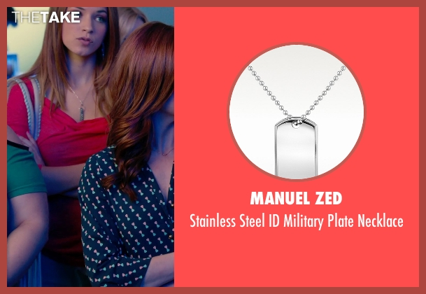 Manuel Zed silver necklace from Pitch Perfect 2 seen with No Actor (Stacie)