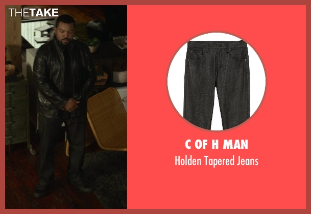 C of H Man black jeans from Ride Along seen with Ice Cube (James Payton)