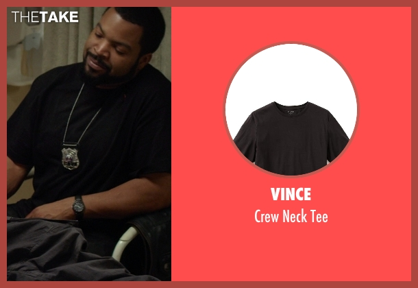 Vince black tee from Ride Along seen with Ice Cube (James Payton)