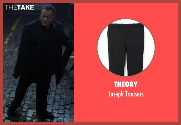 Theory black trousers from Ride Along seen with No Actor (Omar)