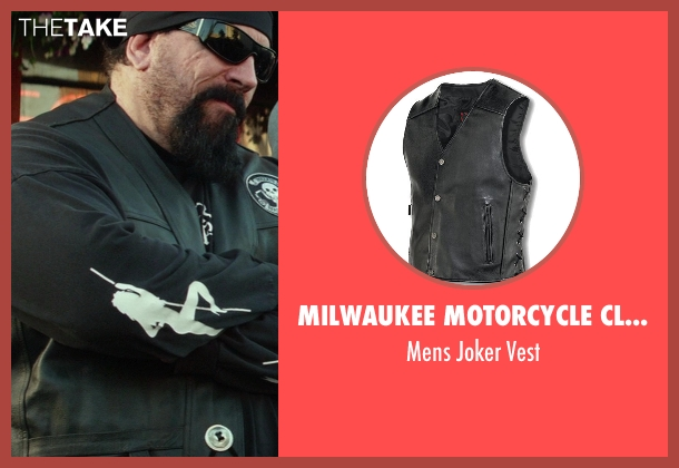 Milwaukee Motorcycle Clothing Company black vest from Ride Along seen with No Actor (Bearded Biker)