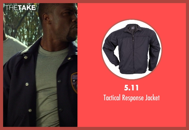 5.11 blue jacket from Ride Along seen with Kevin Hart (Ben Barber)