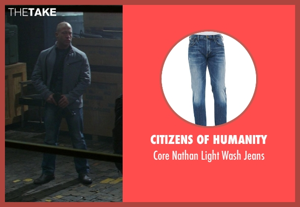 Citizens of Humanity blue jeans from Ride Along seen with No Actor (Roberto)