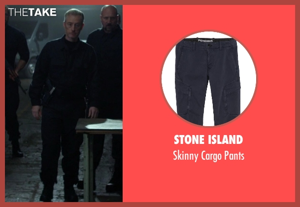 Stone Island blue pants from Ride Along seen with No Actor (Serbian Boss)