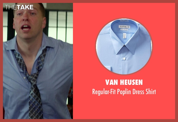 Van Heusen blue shirt from Ride Along seen with No Actor (Crazy Cody)
