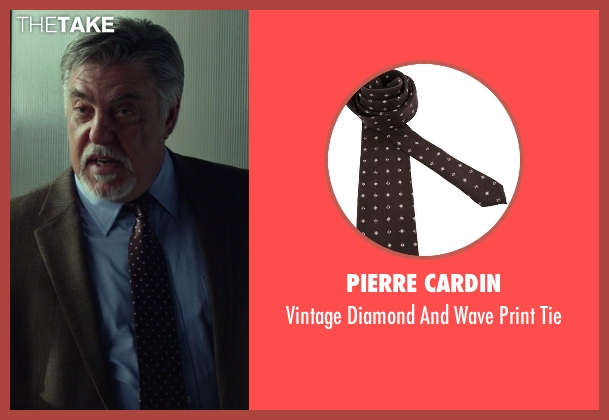Pierre Cardin brown tie from Ride Along seen with No Actor (Lt. Brooks)