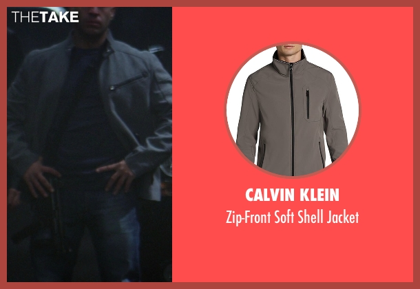 Calvin Klein gray jacket from Ride Along seen with No Actor (Roberto)