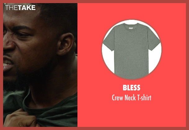 Bless green t-shirt from Ride Along seen with David Banner (Jay)