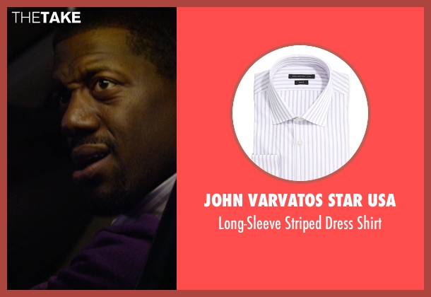 John Varvatos Star USA purple shirt from Ride Along seen with No Actor (Carjacked Driver)