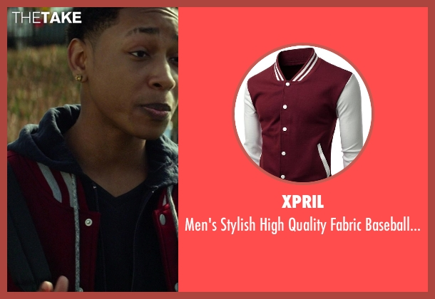 Xpril red jacket from Ride Along seen with No Actor (Ramon)
