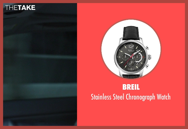 Breil silver watch from Ride Along seen with No Actor (Marko)