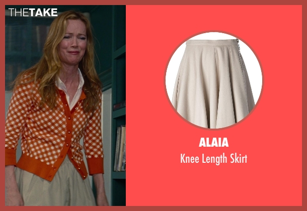 Alaia beige skirt from The Other Woman seen with No Actor (Kate King)