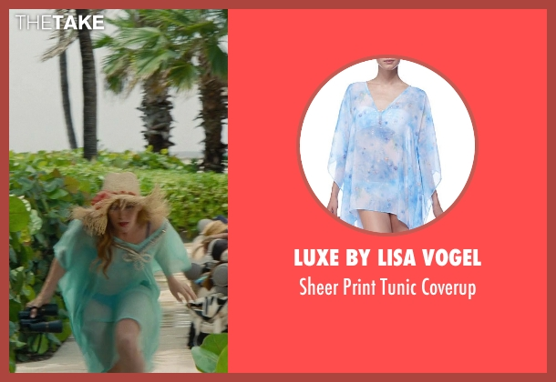 Luxe by Lisa Vogel blue coverup from The Other Woman seen with Leslie Mann (Kate King)