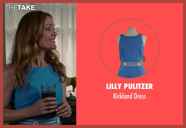 Lilly Pulitzer blue dress from The Other Woman seen with Leslie Mann (Kate King)