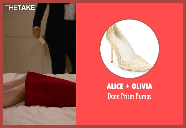 Alice + Olivia gold pumps from The Other Woman seen with No Actor (Kate King)