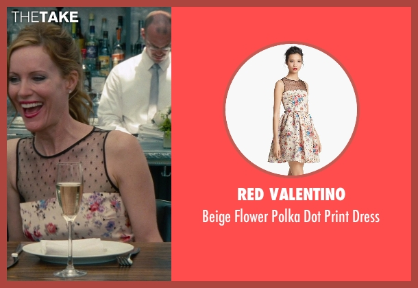 Red Valentino pink dress from The Other Woman seen with Leslie Mann (Kate King)