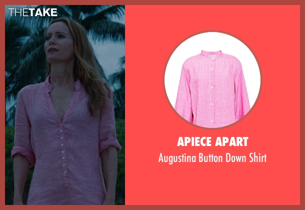 Apiece Apart pink shirt from The Other Woman seen with No Actor (Kate King)