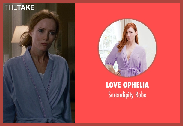 Love Ophelia purple robe from The Other Woman seen with Leslie Mann (Kate King)