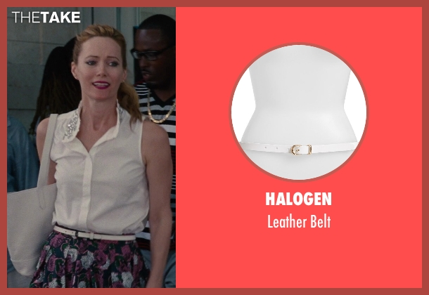 Halogen white belt from The Other Woman seen with No Actor (Kate King)