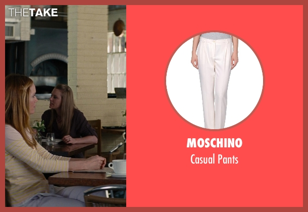 Moschino white pants from The Other Woman seen with No Actor (Kate King)