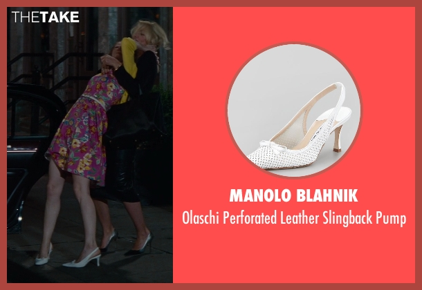 Manolo Blahnik white pump from The Other Woman seen with Leslie Mann (Kate King)