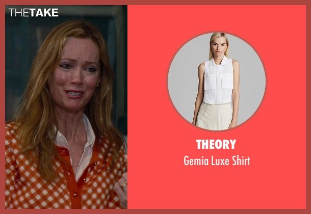 Theory white shirt from The Other Woman seen with No Actor (Kate King)