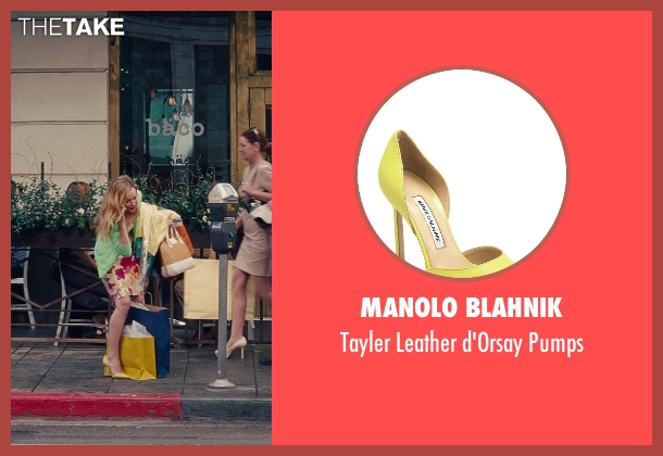 Manolo Blahnik yellow pumps from The Other Woman seen with No Actor (Kate King)