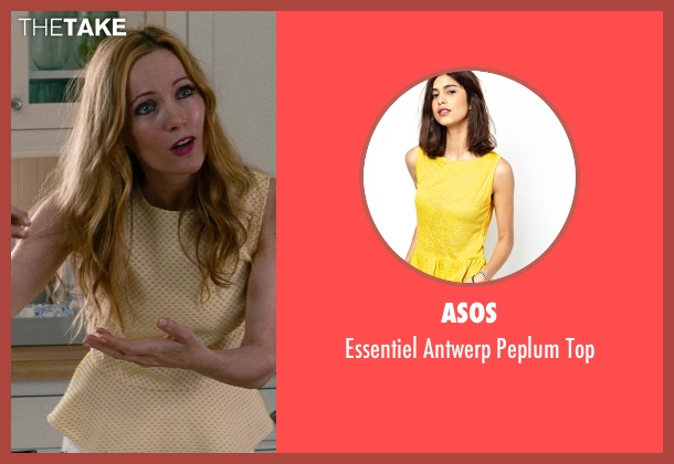 Asos yellow top from The Other Woman seen with Leslie Mann (Kate King)