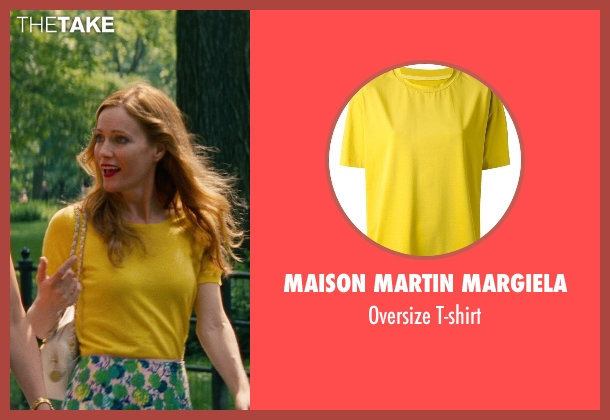 Maison Martin Margiela yellow t-shirt from The Other Woman seen with Leslie Mann (Kate King)