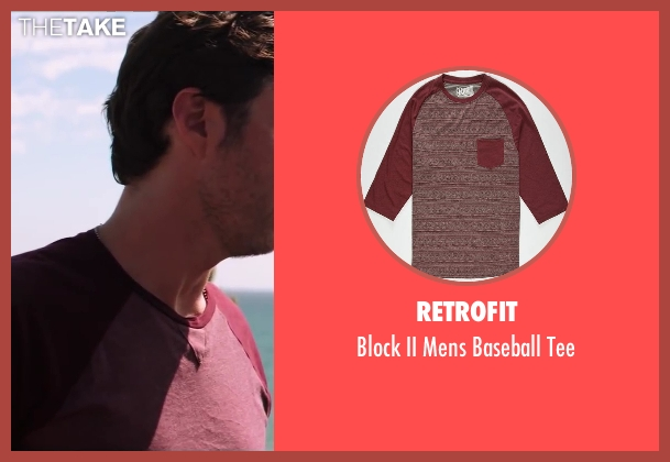 Retrofit red tee from Wish I Was Here seen with No Actor (Aidan Bloom)