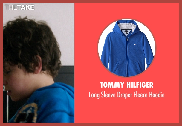 Tommy Hilfiger blue hoodie from 99 Homes seen with Noah Lomax (Connor Nash)