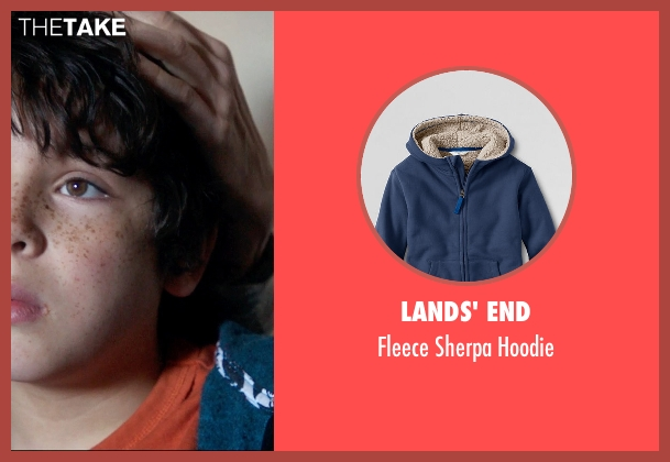 Lands' End blue hoodie from 99 Homes seen with Noah Lomax (Connor Nash)