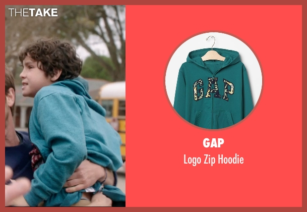 Gap green hoodie from 99 Homes seen with Noah Lomax (Connor Nash)