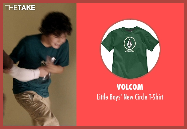Volcom green t-shirt from 99 Homes seen with Noah Lomax (Connor Nash)