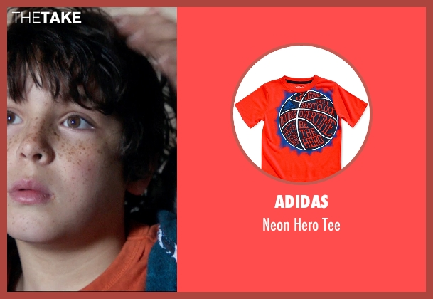 Adidas orange tee from 99 Homes seen with Noah Lomax (Connor Nash)