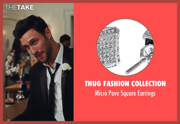 Thug Fashion Collection silver earrings from Sex and the City 2 seen with Noah Mills (Nicky)