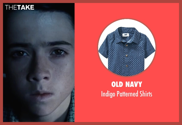 Old Navy blue shirts from Bridge of Spies seen with Noah Schnapp (Roger Donovan)