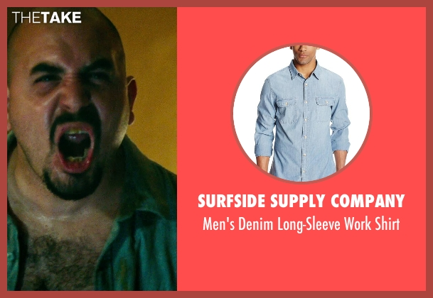 Surfside Supply Company blue shirt from The Purge: Anarchy seen with Noel Gugliemi (Diego)