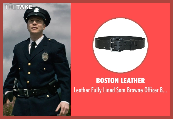 Boston Leather black belt from The Age of Adaline seen with Noel Johansen (Traffic Cop)