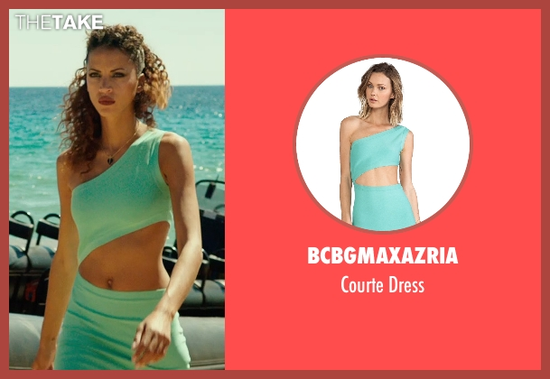 Bcbgmaxazria green dress from The Transporter: Refueled seen with Noémie Lenoir (Unknown Character)