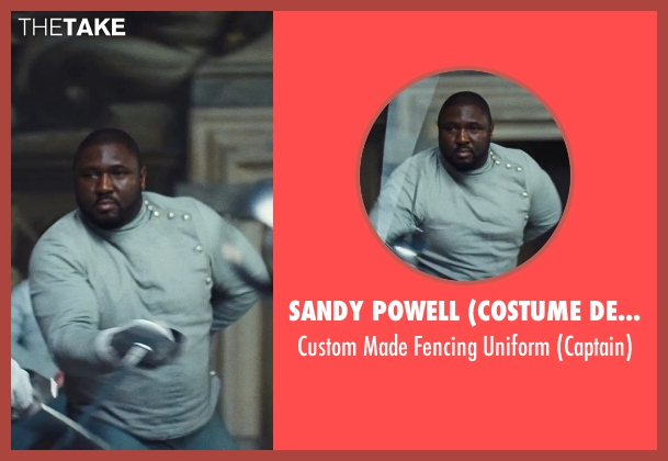 Sandy Powell (Costume Designer) uniform from Cinderella seen with Nonso Anozie (Captain)