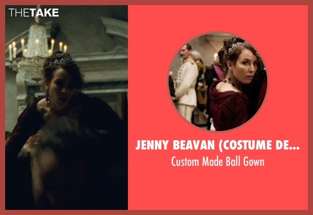 Jenny Beavan (Costume Designer) red gown from Sherlock Holmes: A Game of Shadows seen with Noomi Rapace (Madam Simza Heron)