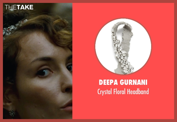 Deepa Gurnani white headband from Sherlock Holmes: A Game of Shadows seen with Noomi Rapace (Madam Simza Heron)