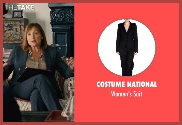 Costume National black suit from Entourage seen with Nora Dunn (Dr. Marcus)