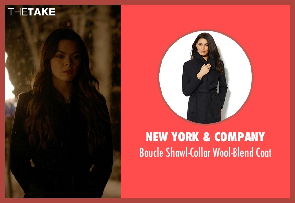 New York & Company black coat from The Vampire Diaries seen with Nora (Scarlett Byrne)