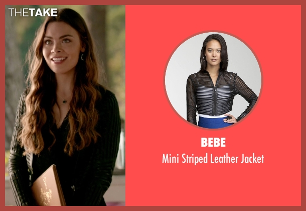 Bebe black jacket from The Vampire Diaries seen with Nora (Scarlett Byrne)