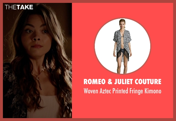 Romeo & Juliet Couture black kimono from The Vampire Diaries seen with Nora (Scarlett Byrne)