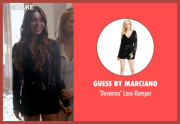 Guess by Marciano black romper from The Vampire Diaries seen with Nora (Scarlett Byrne)